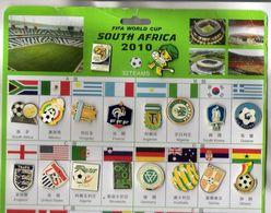 LOT DE 34 PIN'S FOOTBALL - WORLD CUP SOUTH AFRICA 2010 - Fútbol