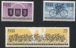 Poland 1962 Mi 1308-1310 Peace Race, Cyclist, Bike, Sport, Competition MNH** - Cycling