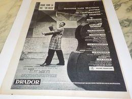 ANCIENNE  PUBLICITE VOIR LA VIE EN BLEU AVEC LUIS MARIANO  1958 - Other