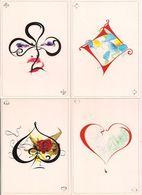 Alexandra Estève: Double Jeu - 4 Cartes - Cart'Com - Série Graphistes N°3 - - Altre Illustrazioni