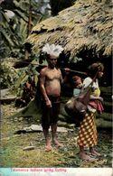 ! Alte Ansichtskarte Costa Rica, Talamanca Indians Go Fishing - Costa Rica