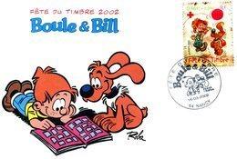 France - 2002-yt 3469 Sur Carte- Fête Du Timbre Nancy-Boule Et Bill - France