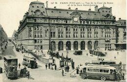 Paris - Vue De La Cour De Rome Et De La Gare Saint Lazare - Autobus - Ecrite - Edia Nº 247 - Nahverkehr, Oberirdisch
