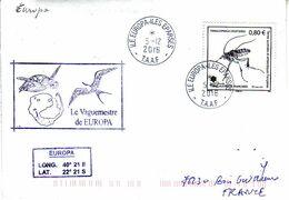 FSAT TAAF. Iles Eparses. Europa. 05.12.2016 (3). Sea Turtle. T. Insecte - Terres Australes Et Antarctiques Françaises (TAAF)