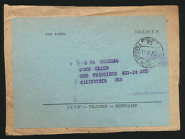 Estland Paketbegleidadresse Tallin Nach San Francisco Kalifornien USA   - Estland