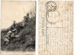 Un Avant Poste Anglais - Cachet TP 49 + Cachet Militaire 47° Chasseurs  (119762) - Weltkrieg 1914-18