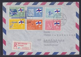 Curacao Niederlande Kolonien Antillen Luftpostbrief R Brief Willemstad Rendsburg - Niederländische Antillen, Curaçao, Aruba