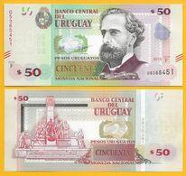 Uruguay 50 Pesos Uruguayos P-87c 2015(2017) (Serie F) UNC Banknote - Uruguay