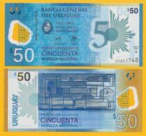 Uruguay 50 Pesos Uruguayos P-100 2017 Commemorative UNC Polymer Banknote - Uruguay