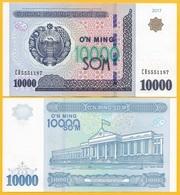 Uzbekistan 10000 (10,000) Sum P-84 2017 UNC Banknote - Uzbekistan