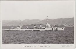 TOULON Carte Photo Torpilleur Baliste - Toulon