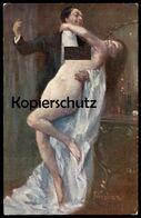 ALTE KÜNSTLER POSTKARTE ORGIE GHEDUZZI Frau Femme Seins Nus Nude Breast Woman Nudity Cpa Postcard AK Ansichtskarte - Vintage Women < 1920