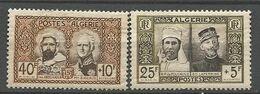 ALGERIE N° 285 Et 286 NEUF**  SANS CHARNIERE Gomme Craquelé / MNH - Algeria (1924-1962)