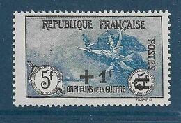 Timbres Neufs* France, N°169 Yt,surtaxe Au Profit Des Orphelins De Guerre, Marseillaise, Charnière - France