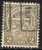 Luxembourg 1907 Prifix Nr. 40B - Prematasellados