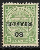 Luxembourg 1908 Prifix Nr. 58 - Voorafgestempeld