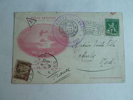 Carte Ayant Voyagé :Poste Aérienne . Exposition De Gand 1913, Cf Photos - Sonstige