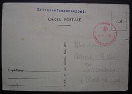 1940 Kriegsgefangenenpost  Avec Cachet Rouge Wehrmacht, Geprüft X, Carte Pour Trèvières Calvados - Marcophilie (Lettres)