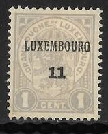 Luxembourg 1911 Prifix Nr. 73 - Voorafgestempeld