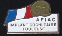 66365- Pin's.AFIAC. FIAC.Tarn. Association. Implant Cochléaire.Toulouse. - Cities
