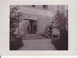 Photographie Guerre 1914-18 Alsace Vosges Lignes Allemandes Soldat Gardant Un Bâtiment Militaire Ref 1109 - War 1914-18