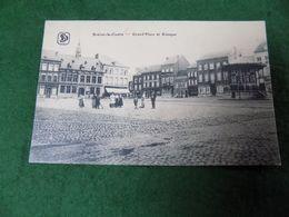 VINTAGE BELGIUM: BRAINE Le COMPTE Grand Place B&w SD Military - Braine-le-Comte