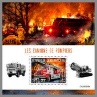 CENTRALAFRICA 2020 MNH Fire Engines Feuerwehr Fahrzeuge Camions De Pompiers S/S - OFFICIAL ISSUE - DHQ2031 - Pompieri