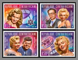 CENTRALAFRICA 2020 MNH John F. Kennedy JFK Marilyn Monroe 4v - IMPERFORATED - DHQ2031 - Kennedy (John F.)