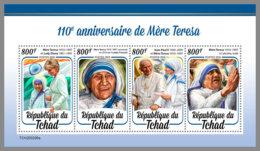 CHAD 2020 MNH Mother Teresa Mutter Teresa Mere Teresa M/S - OFFICIAL ISSUE - DHQ2031 - Mother Teresa