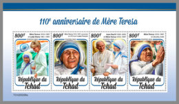 CHAD 2020 MNH Mother Teresa Mutter Teresa Mere Teresa M/S - IMPERFORATED - DHQ2031 - Mother Teresa
