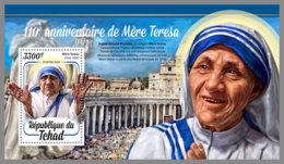 CHAD 2020 MNH Mother Teresa Mutter Teresa Mere Teresa S/S - IMPERFORATED - DHQ2031 - Mother Teresa
