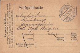 Feldpostkarte  - Langenberg Nach Genesungsheim Bad Spa Belgien - 1914  (51510) - Covers & Documents