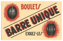 Buvard Boulets Barre Unique, Exigez-les (charbon) - Löschblätter, Heftumschläge
