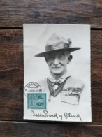 LIECHTENSTEIN 1953 CARTE MAXIMUM PREMIER JOUR FDC SCOUT SCOUTISME BADEN POWELL TBE - FDC
