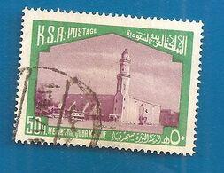 1966 ARABIA SAUDITA Edifici Moschea Medina Yuba Mosque - 20 P Usato - Arabia Saudita