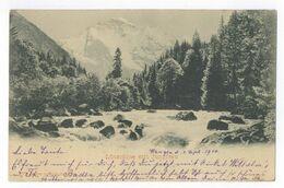 Lütschine Mit Jungfrau AK 1900 Wengen Postkarte Ansichtskarte - BE Bern