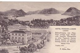 269/ Lugano, Hotel Pension Luzern, F.Abba - TI Tessin