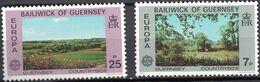 Guernsey, 1977, SG 151-52, Mi. 147-48, Y&T 142-43, Sc. 147-48, Europa, MNH - 1977