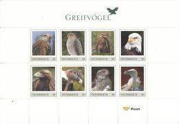 Austria, Personalized Stamps With Original Folder, Eagle, Eagles, M/S Of 8v, MNH** - Águilas & Aves De Presa