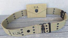 Cinturone M1936 U.S Army 2gm E Portamedicazioni 1942/1943 Ottima Repro Mai Usato - 1939-45