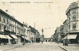 Belgique - Hainaut - Marchienne Au Pont - La Rue De La Providence - Tramway - Scheers Nº 3 - Ecrite, Timbrée - Charleroi