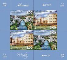 2012 EUROPA Block, Visit Mostar, N° 333, Croat Post Mostar, Bosnia And Herzegovina, MNH - Bosnien-Herzegowina