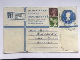 GB Elizabeth Registered Bangor Cove To Goring 53.5p Rate Uprated 15.5p - 1952-.... (Elisabeth II.)