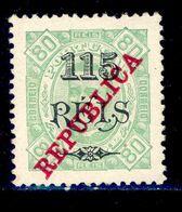 ! ! Angola - 1915 King Carlos 115 R (Perf. 12 3/4) - Af. 182 - MH - Angola