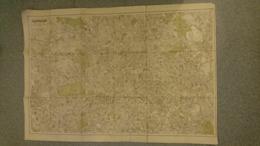 LONDRES 1909 CARTE PLAN LONDON POST OFFICE DIRECTORY 180*76 CM - Carte Geographique