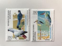 GUINÉE ÉQUATORIALE 1992 2 V Neuf ** MNH Mi 1752 1753 Ucello Oiseau Bird Pájaro Vogel GUINEA ECUATORIAL - Pappagalli & Tropicali