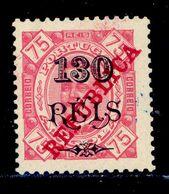 ! ! Angola - 1915 King Carlos 130 R (Perf. 11 3/4) - Af. 186c - MH - Angola
