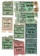 Lot De 9 Tickets D'entrée Cinéma. Villefranche/Saône, Lyon. 2 Photos. - Eintrittskarten