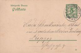"Bayern / 1910 / Postkarte K1-Bahnpoststempel ""K.B.BAHNPOST"" (CJ12) - Bavaria"