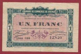 1 Francs  Chambre De Commerce De Grenoble   Dans L 'état (34) - Chambre De Commerce